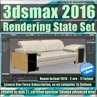 3ds max 2016 Rendering State 1 Mese Subscription