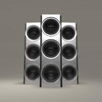 3d modern chrome speaker model