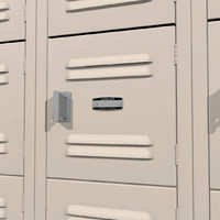 lockers doors open 3d c4d