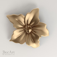 3d carved flower model
