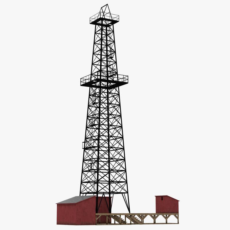 Oil Derrick 3d model 00.jpg