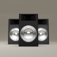 black subwoofer chrome speakers obj