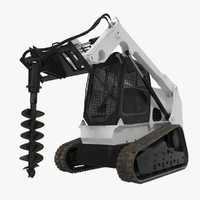 max compact tracked loader auger