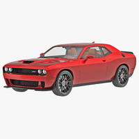 3d dodge challenger hellcat 2015 model