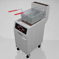 3d model deep fryer restaurant