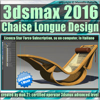 3ds max 2016 Chaise Longue 1 Mese Subscription