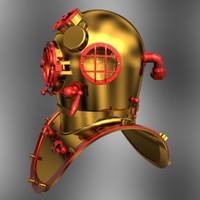 3d diving helmet