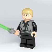 luke skywalker jedi 3d obj