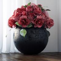 3d model rose vase