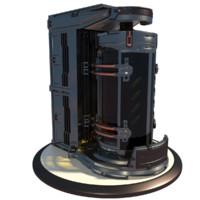 3dsmax futuristic biohazard