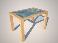 3d c4d wood table