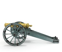 cannon 18th century 3d blend