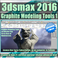3ds max 2016 Graphite Modeling Tools1 vol 18 _1 Mese Subscription