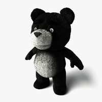 teddy bear 4 3d 3ds