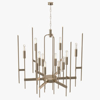 hudson valley bari chandelier 3d model
