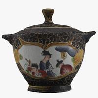 3d model of teapot
