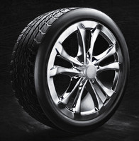 car tire rim modelling 3d 3ds