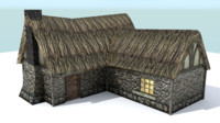 3d pack farm house medieval