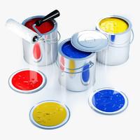 maya paint cans