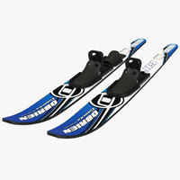 3d water skis model
