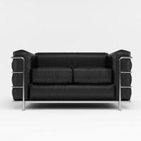3d sofa cassina lc2