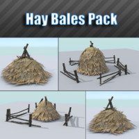 3ds max pack hay bale