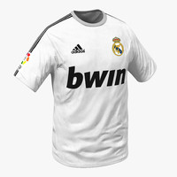 3d model of t-shirt real madrid