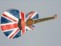 3d guitar instrument modern model