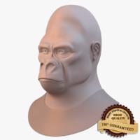 3d gorilla primate