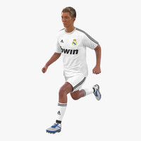 soccer player real madrid 3d max