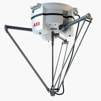 industrial robotic abb irb 3d 3ds