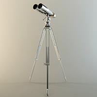 3d standing binoculars naval 1920s model