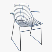 3d chair armchair metalmobil net model