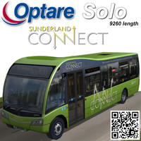 optare solo bus sunderland 3d max