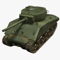 sherman tank m4a3e2 obj