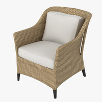 dedon summerland armchair 3d model