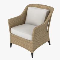 dedon summerland armchair 3d model