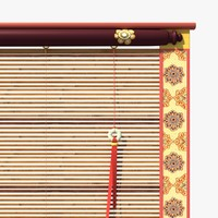 3d chinese bamboo curtain model