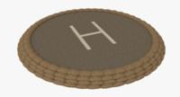 Military helipad two textured