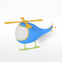 cartoon helicopter 3d 3ds