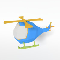 cartoon helicopter fbx