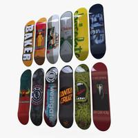 skateboard decks 3d ma