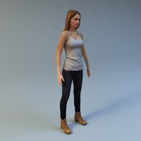 woman scan 3d max
