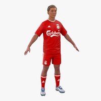 3d model of soccer player liverpool hair