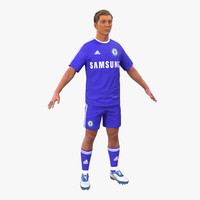 3d soccer player chelsea hair model