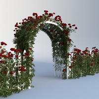 set rose fences 3d model