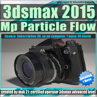 Video Corso 3ds max 2015 MP Particle Flow vol 46_ 1 Mese Subscription