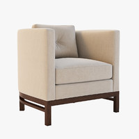 3d model domicile curved lounge