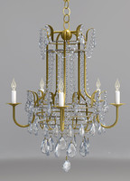 chandelier currey lamp 3d model