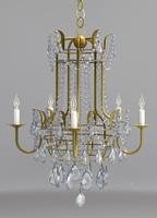 chandelier currey lamp 3d model